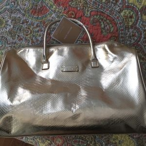 Michael Kors beauty 'gorgeous weekender' bag gold